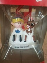Rudolph and elf musical Christmas Ornament upc 045544980661 - $49.38