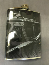 Assault Rifle D3 Flask 8oz Stainless Steel Drinking Whiskey Clearance item - $7.92