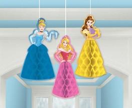 Disney Princess Dream Big Honeycomb 3 Piece Decoration Birthday Party Su... - $7.18