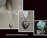 Silver locket heart  necklace collage thumb155 crop