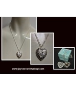 Sterling Silver Heart Locket Necklace 925 NWT Gift Box Included Free Shi... - $11.99