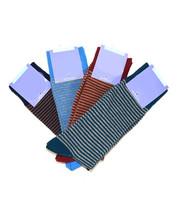 Bari Menswear Luxury Cotton Blend Colorful Stripe Dress Socks - $18 Reta... - $6.99