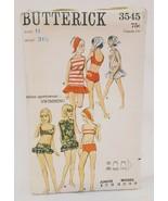 Bathing Suit Cover Up Scarf Swimsuit Junior Size 11Butterick 3545 Vintag... - $24.99