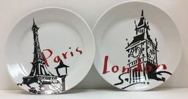 "Paris & London Set of 2 Salad/Dessert Plates "" Pacific Island "" - $23.76"