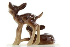 Hagen Renaker Miniature Deer Baby Fawn Standing & Lying Ceramic Figurine Set image 6