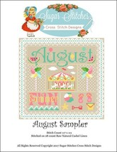 August Monthly Sampler 2017 series cross stitch chart Sugar Stitches  - $10.00