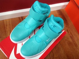 Nike Men's Marxman Hyper Jade & White Synthetic Leather Basketball Shoes... - $98.01