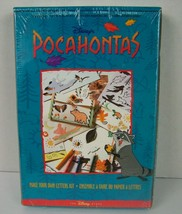 Vintage Disney Store Pocahontas Make Your Own Letters Craft Kit Cards Ne... - $39.59