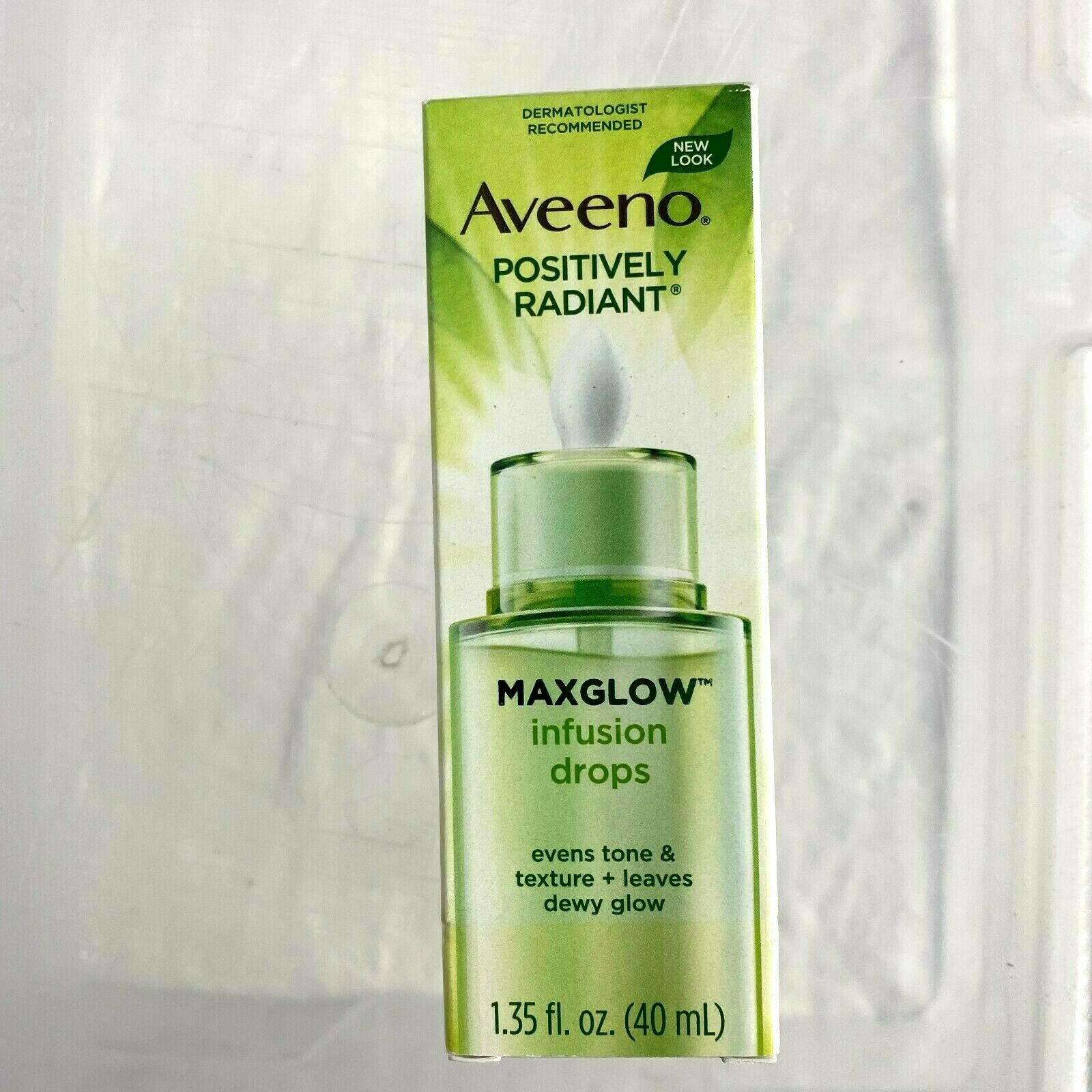 Primary image for Aveeno Positively Radiant Maxglow Infusion Drops Dropper Dispenser 1.35 fl. oz