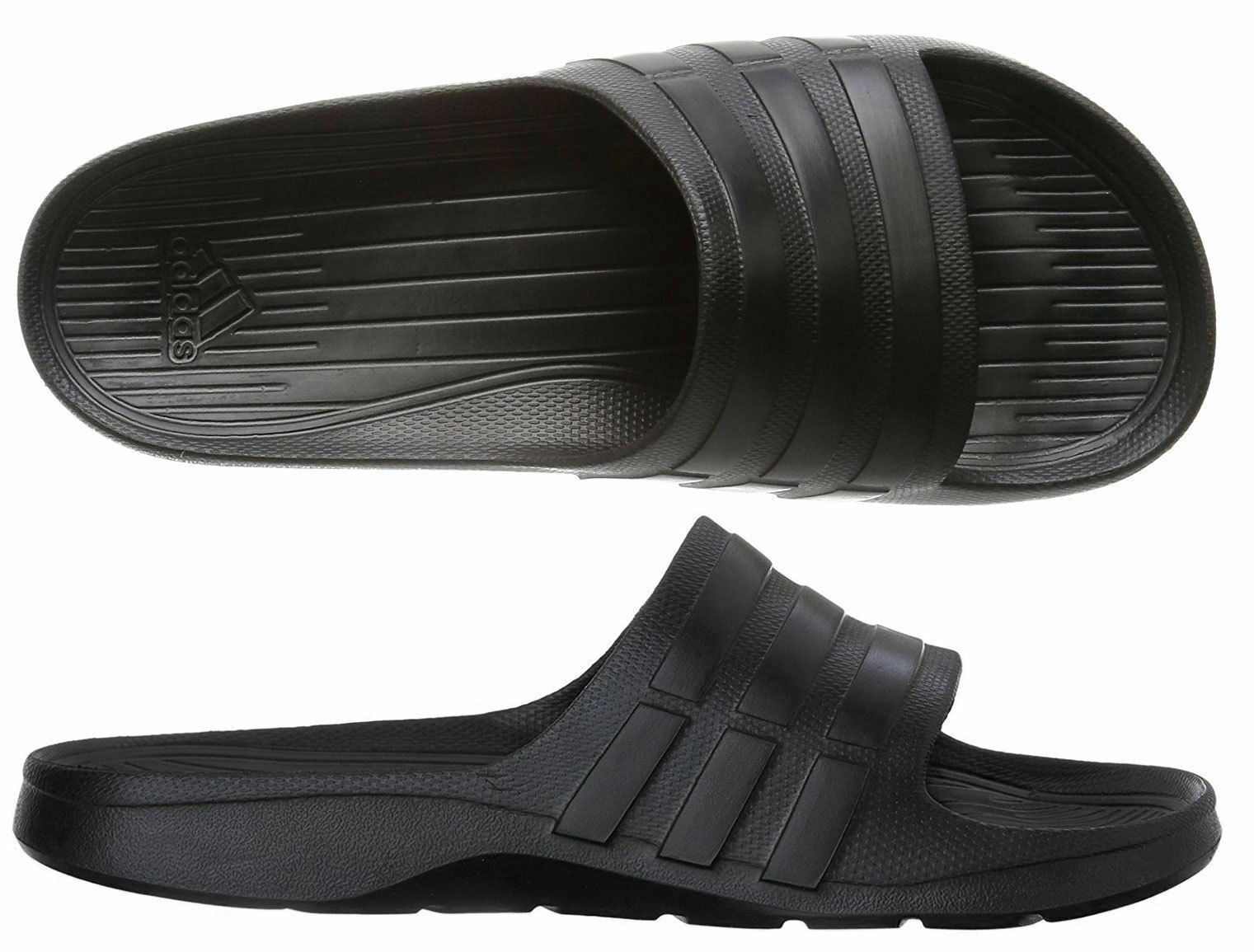 080227987971 Adidas Men s Duramo Slide Sandals Beach Shoes Flip Flops S77991 - Black