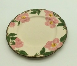 "Vintage Franciscan Desert Rose 9.5"" Lunch Plate Pink Roses USA - $12.50"