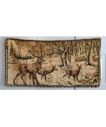 "Vintage Buck Deer Tapestry wild woods at sunrise sunset 36""x18"" - $56.09"