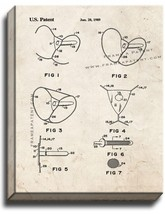 Female Condom Patent Print Old Look on Canvas - $39.95+