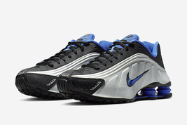 Nike Shox R4 Black/Racer Blue Shoes 104265 047 Men Sneakers  - $190.00