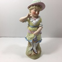 Vintage Ceramic of a Blond Blushing Young Woman (unmarked, approx. 10.75... - $19.75
