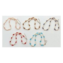 Wholesale Lot 6 Mixed Luster Freshwater Pearl Faceted Crystal Necklaces ... - $26.48