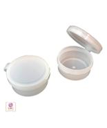 Cosmetic Containers Plastic Flip Top Hinged Lid Jars 10 Gram Ml Natural ... - $38.95