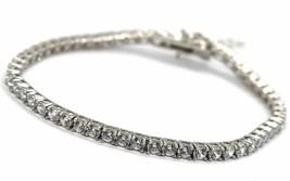 Tennis Bracelet Silver 925, Zircon Cubic White 3 mm, Length 18 CM image 1