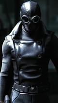 Spider-Man Noir Costume Black Leather Jacket Vest - $69.29+