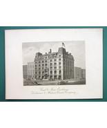 PHILADELPHIA Delaware & Hudson Co Building Coal Exchange  - 1876 Engravi... - $21.42