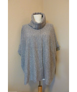 Le Pavot Wool Heather Gray Turtleneck Overlap Front Pullover Sweater Sz S - $113.85