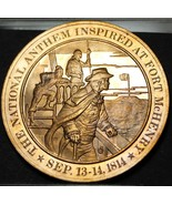 1814 National Anthem Ispirato presso Fort Mchenry ~ Franklin Mint Bronzo... - $9.88
