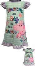 Komar Kids Girls' Peppa Pig Mermaid Toddler Nightgown with - $31.43