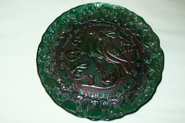 IMPERIAL CARNIVAL GLASS GREEN 2ND DAY CHRISTMAS-2 TURTLE DOVES DISPLAY P... - $38.70