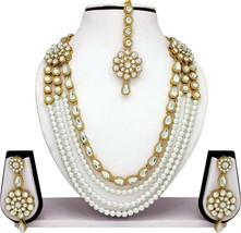 Long Indian Bollywood Bridal & Wedding Kundan Pearl Gold Plated Fashion ... - $24.16