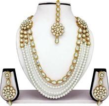 Long Indian Bollywood Bridal & Wedding Kundan Pearl Gold Plated Fashion Jewelry - $24.16