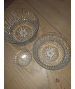 VTG Arcoroc France Diamant Bowls  - $52.00
