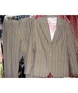 Woman's Classic Taupe Tan stripe Pant Suit sz.12   - $25.00