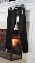 JOIE Jeans Mid Rise Skinny Coated Black Jeans Sz 24 Retail $238.00 - $95.04