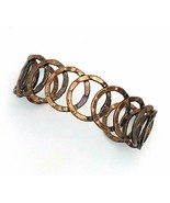 Vintage Hammered Copper Open Circle Cuff Bracelet - $28.71