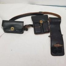 Vintage  Era Bucheimer MRT Black Leather Holster W/ amo pouch  US Mar 1968 - $93.15