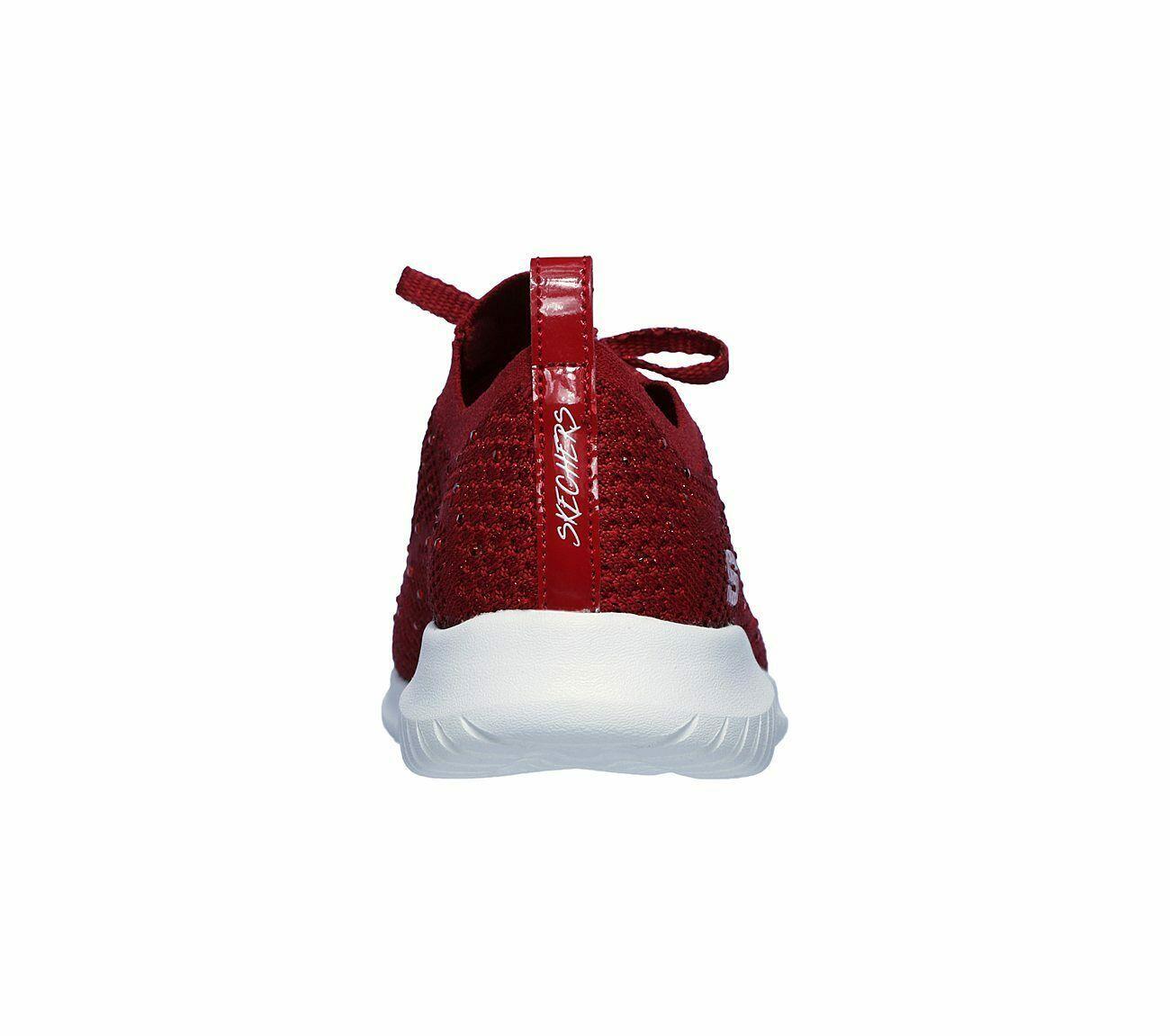 Skechers Red Shoes Memory Foam Women Slip On Comfort Casual Sporty Walking 13099 image 6