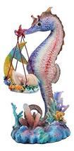Ebros Sheila Wolk Ocean Mer Birth Baby Merboy Rainbow Seahorse Delivery Statue 9 - $59.99