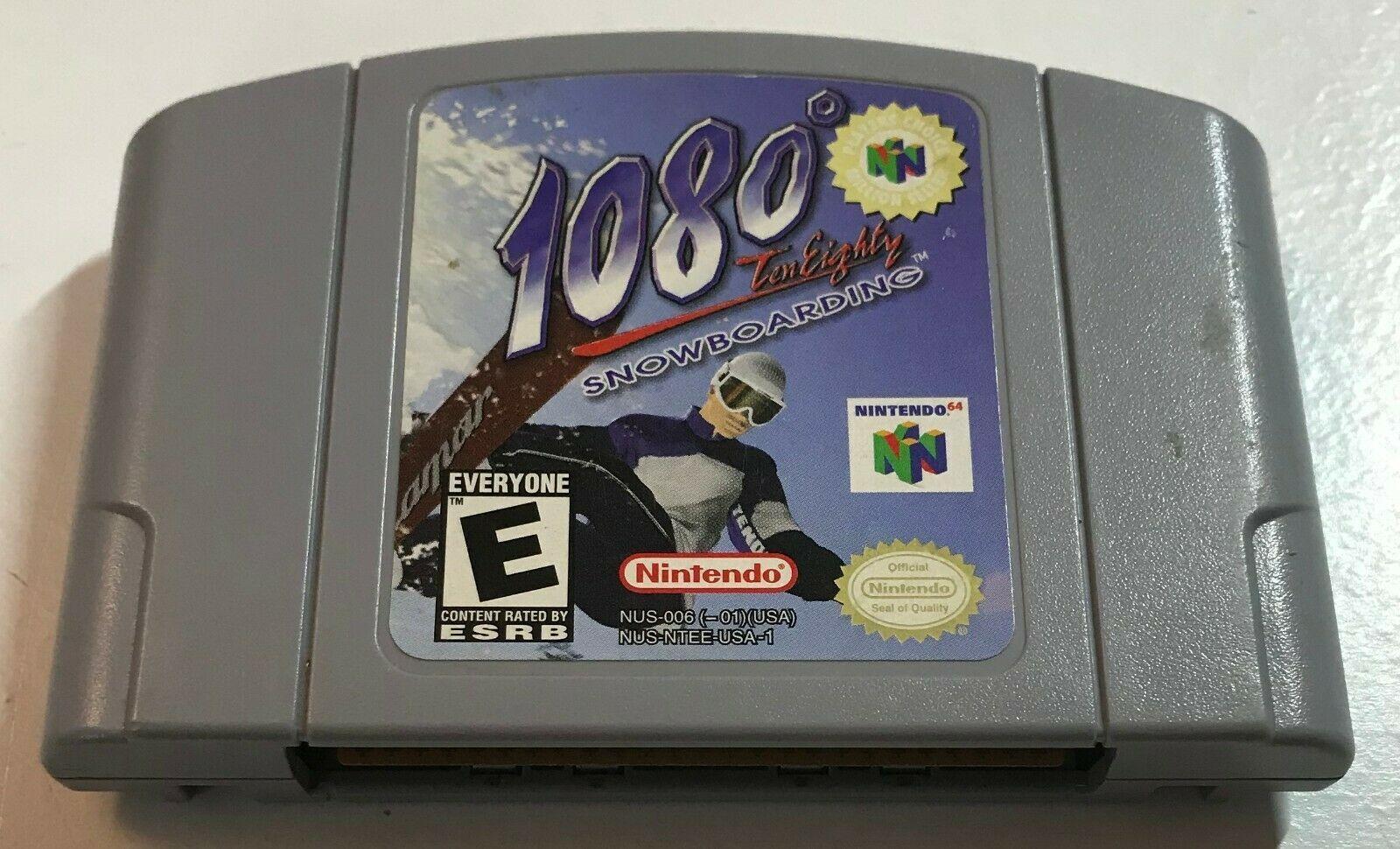 1080° Snowboarding (Nintendo 64, 1998) N64 Game Cartridge