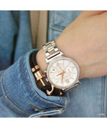 Michael Kors MK6558 Sofie Chronograph Crystal Silver Dial Women Watch FR... - $130.44