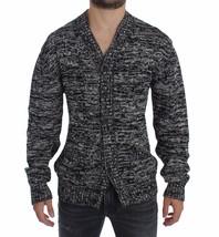 Dolce & Gabbana Sweater Black Cotton Silk Knitted Cardigan - $372.66