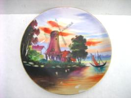 Vintage Y. FUNABASHI Signed Ceramic Hand-painted Decorative Scenic Outdo... - $49.00