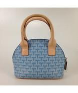 Tommy Hilfiger Small Mini Blue T Patterned Handbag Purse - $18.69