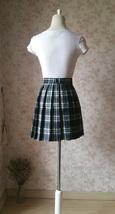 Black White Plaid Skirt Women Girl Short Black and White Tartan Skirt Plus Size image 3