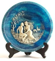 Incolay cameo collector plate The Voyage of Ulysses The Isle of Circe by... - $47.52