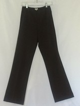 Cache Bi Stretch Flat Front Pant Sz 2/4 XS/ Small Dark Brown FAMOUS no p... - $29.95