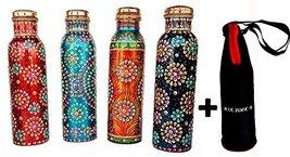 Rastogi Handicrafts Copper Joint less leak-proof Water storage Bottle fo... - $108.41