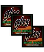 GHS Guitar Strings Acoustic 3-Packs Bright Bronze Heavy 14-60 - $29.16