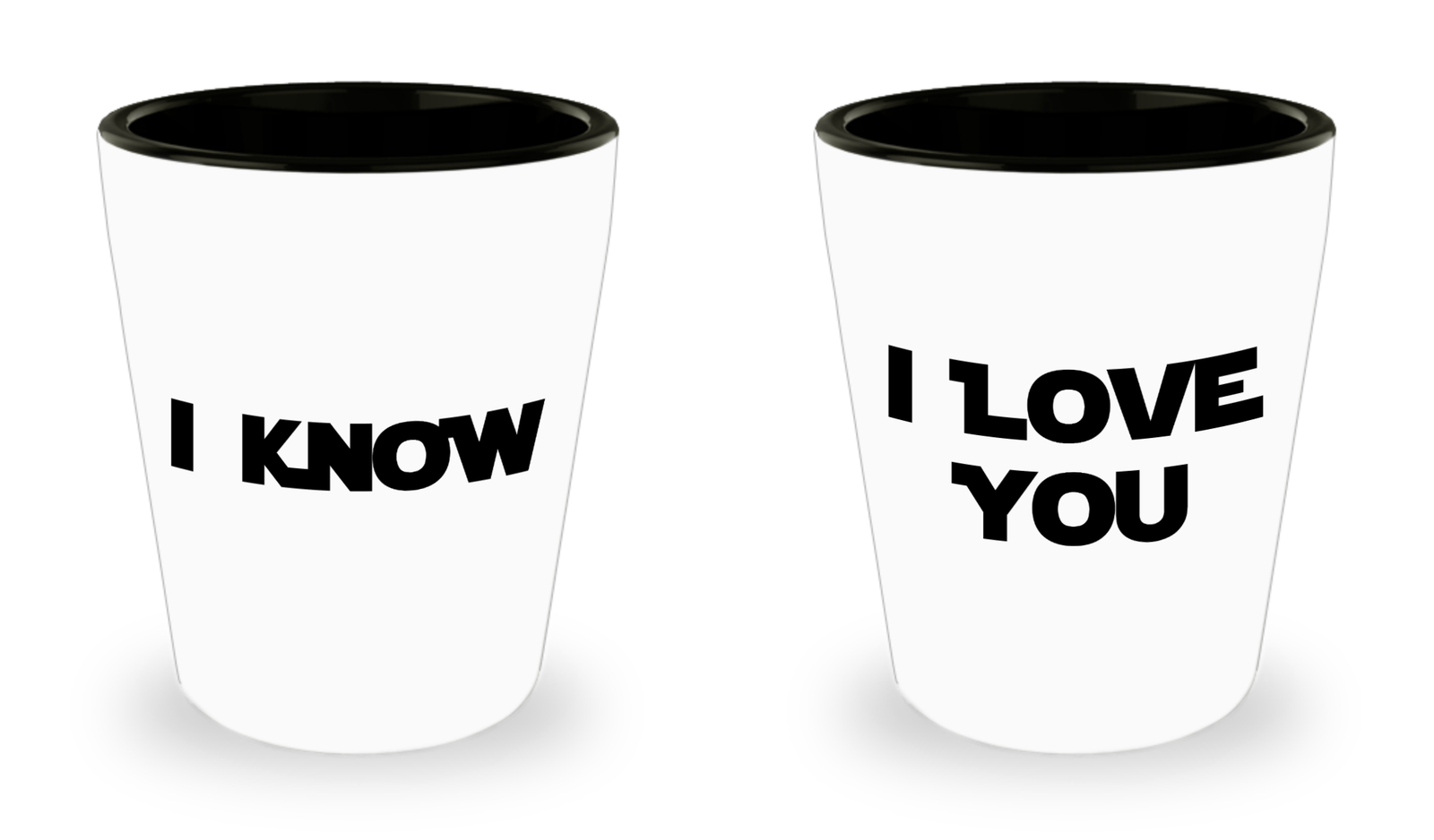 Primary image for I Love You I Know Shot Glass Set Valentines Day Anniversary Gift Ceramic 1.5 oz