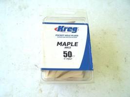 Kreg Pocket Hole Plugs Maple 50 Pieces new - $6.34