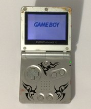 Nintendo Game Boy Advance SP AGS-001 Tribal Limited Edition - Silver - $49.49